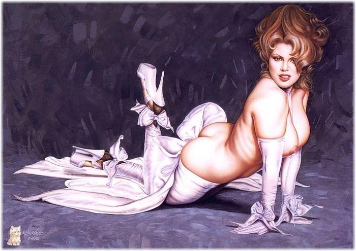 рисунки эротические женщин