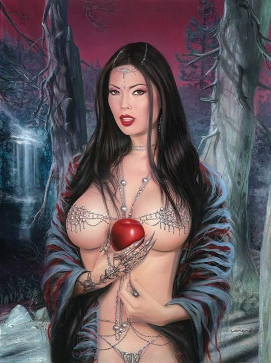 фото голых рисованных девушек фэнтази