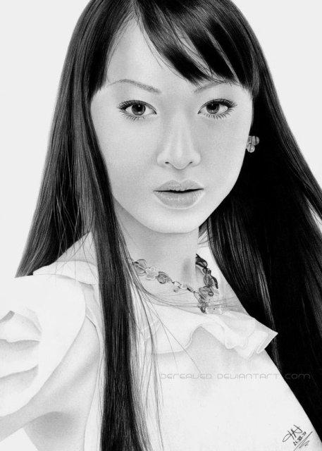 Симпатичные девушки - рисунки выполненные карандашом (15 рисунков)
