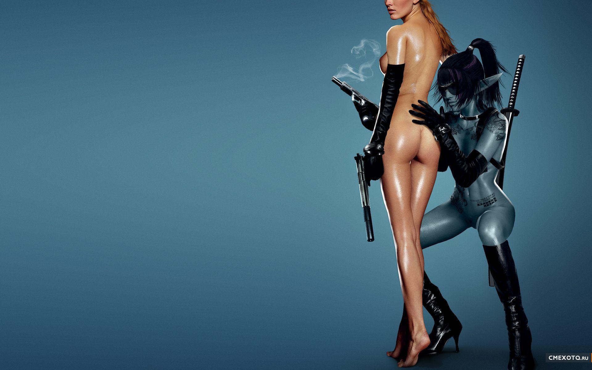 Девушки оружие эротика фото фото 504-579