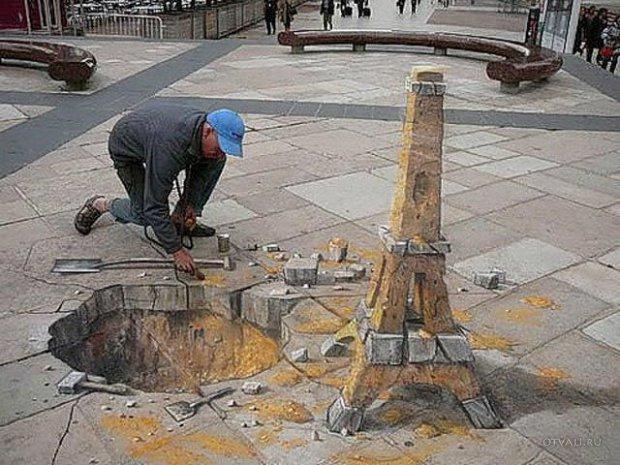 Фото 19, Красивые 3D рисунки на улице (48 фотографий).